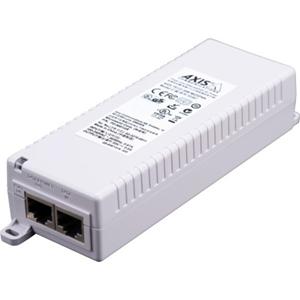 AXIS T8133 PoE injektor - 120 V AC, 230 V AC Input - 1 10/100Base-TX Input Port(s) - 1 10/100Base-TX Output Port(s) - 30 W - Kan monteres på væg/hylde/DIN-skinne