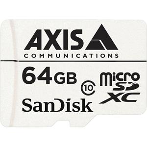 AXIS 64 GB microSDXC - Class 10 - 20 MB/s Læs - 20 MB/s Skriv10 Pakke