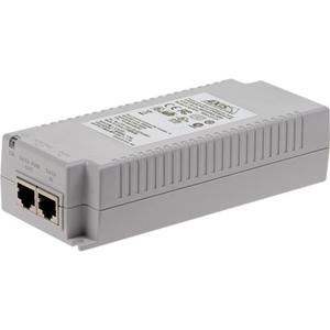AXIS T8134 PoE injektor - 110 V AC, 230 V AC Input - 55 V DC Output - 10/100/1000Base-T Input Port(s) - 10/100/1000Base-T Output Port(s) - 60 W - Kan monteres på væg/hylde/DIN-skinne