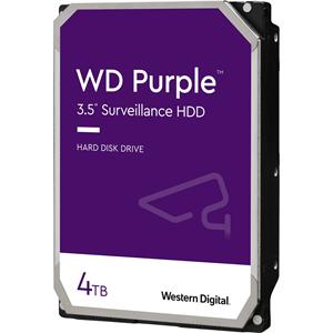 """WD Purple WD40PURZ 4 TB Harddisk - 3.5"""" Intern - SATA (SATA/600) - Netværksvideooptager Device Supported - 5400rpm"""