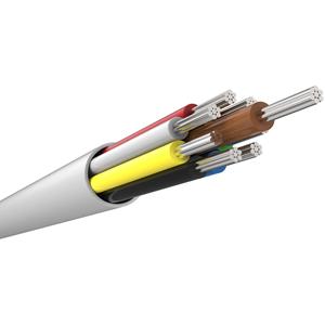 CQR til Alarm - 100 m - Bare Wire - Bare Wire - Hvid