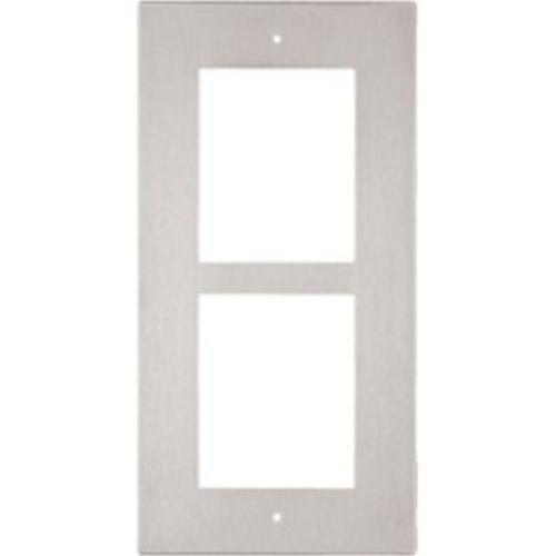 2N frontplade - 2 x Total Number of Socket(s) - Nickel - Glat montering, Vægmontering