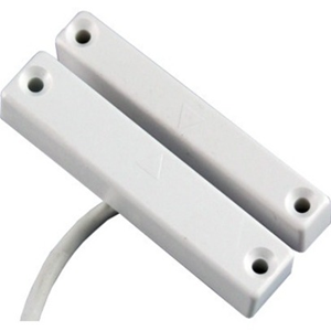 CQR SC513 Kabel Magnetkontakt - SPST (N.O.) - 20 mm Gap - For Door - Overflademontering - Hvid