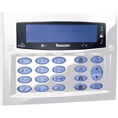 Texecom Premier Elite Sikkerhedstastatur - Til Kontrolpanel - Diamant hvid