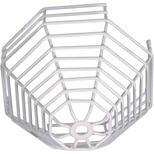STI Steel Web Stopper STI-9610 Sikkerhedsdække til Røgalarm - Beskadigelsesbestandig, Rustfri, Sabotagesikret - Rustfri Stål - Hvid