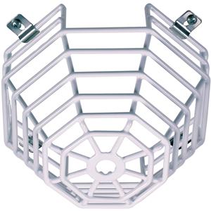 STI Steel Web Stopper STI-9605 Sikkerhedsdække til Røgalarm - Beskadigelsesbestandig, Rustfri, Sabotagesikret - Rustfri Stål - Hvid