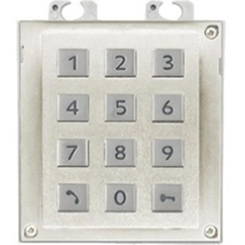 2N Sikkerhedstastatur til Dørindgangspanel - Hvid, Nickel