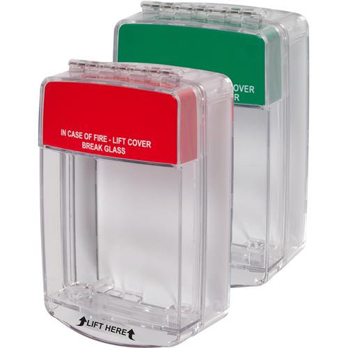 STI Euro Stopper STI-15C20ML Sikkerhedsdække til Alarmsystem - Polycarbonate - Red, Grøn