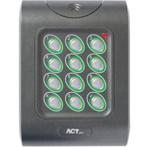 ACT ACTpro MF 1050e Kortlæser/tastatur adgangsenhed - Door - Nærhed, Nøglekode - Wiegand - 24 V DC - Glat montering, Overflademontering