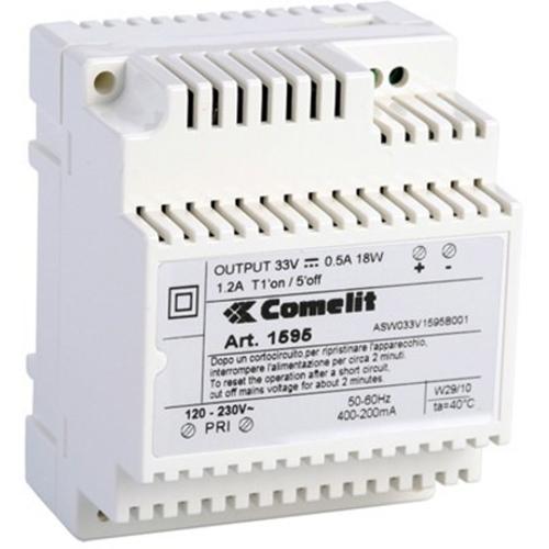 Comelit 1595 Proprietær strømforsyning - 33 V DC Output Voltage - DIN-skinne