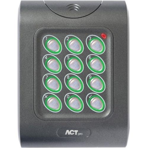 ACT ACTPRO 1050E Kortlæser/tastatur adgangsenhed - Door - Nærhed, Nøglekode - Wiegand - 12 V DC - Glat montering, Overflademontering