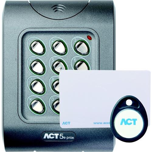 ACT ACT 5e Kortlæser/tastatur adgangsenhed - Door - Nærhed, Nøglekode - 10 User(s) - 1 Door(s) - 24 V DC - Overflademontering, Glat montering, selvstændig