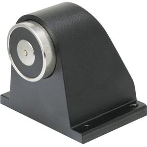 Eaton Elektromagnetisk dørholder - Push knap, Fjederudløser, Væg Monterbar - Aluminum - Black