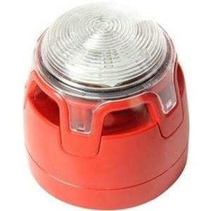 KAC CWSS-RR-W5 Horn/blinklys - Wired - 29 V DC - 107 dB(A) - Hørbar, Visuelt - Væg Monterbar, Kan monteres på loftet - Red, Red, Klar
