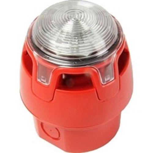 Notifier Sirene/blinklys - 29 V - 107 dB - Hørbar, Visuelt - Red, Red