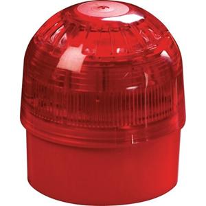 Apollo 55000-005 Horn/blinklys - Wired - 28 V DC - 100 dB(A) - Visuelt, Hørbar - Væg Monterbar - Red