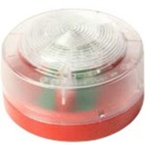 KAC Sikkerheds stroboskoplys - Wired - 29 V DC - Visuelt, Hørbar - Væg Monterbar - Rød, Hvid, Klar
