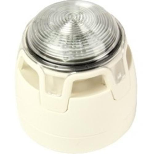 Notifier ENscape Horn/blinklys - 29 V DC - 102,7 dB(A) - Hørbar, Visuelt - Væg Monterbar, Kan monteres på loftet - Hvid, Red, Klar, Red, Klar