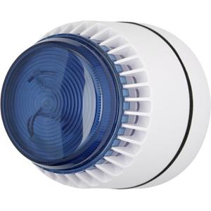Eaton Flashni Horn/blinklys - 15 V DC - 103 dB - Hørbar, Visuelt - Hvid, Blå