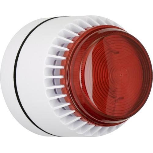 Eaton Flashni Horn/blinklys - 15 V DC - 103 dB - Hørbar, Visuelt - Red, Hvid