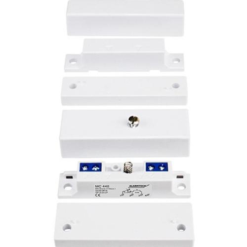 Alarmtech MC 440 Magnetkontakt - N.C. - For Door, Window - Overflademontering - Hvid, Brown