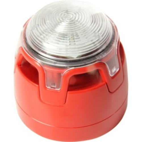 Notifier ENscape Horn/blinklys - Red - 29 V DC - 107 dB - Hørbar, Visuelt - Vægmontering, Kan monteres på loftet - Red, Klar