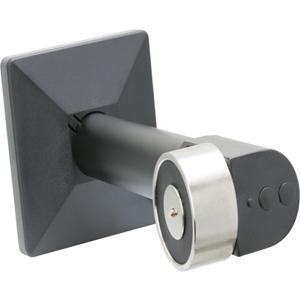 Eaton Elektromagnetisk dørholder - Væg Monterbar, Push knap, Fjederudløser - Stål, Aluminum - Black