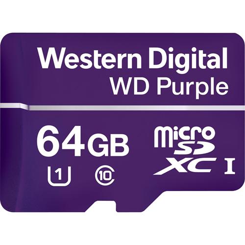 WD Purple WDD064G1P0A 64 GB microSDXC - 100 MB/s Læs - 60 MB/s Skriv