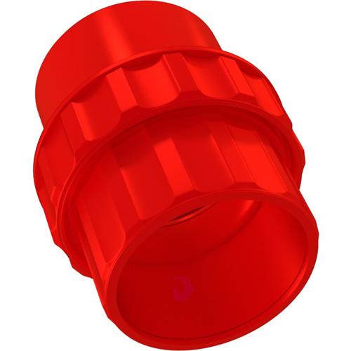 Bisson - Red - 25 mm Ø x 48 mm - Acrylonitrilbutadienstyren (ABS)
