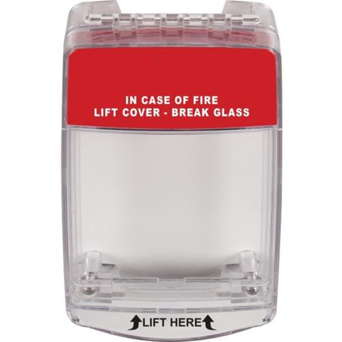 STI Euro Stopper Sikkerhedsdække - Sabotagesikker - Polycarbonate - Red, Grøn