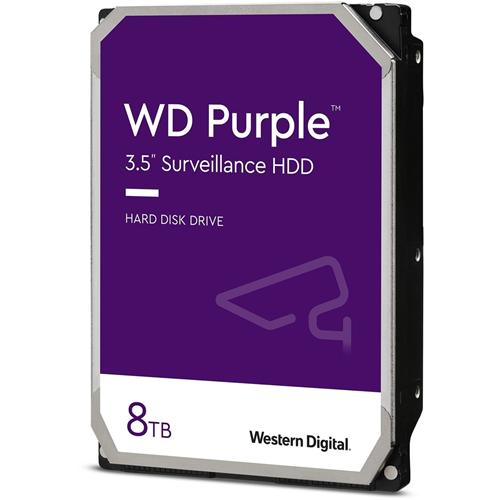 """WD Purple WD82PURZ 8 TB Harddisk - 3.5"""" Intern - SATA (SATA/600) - Netværksvideooptager Device Supported - 7200rpm"""