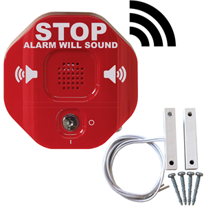STI Security Alarm - 105 dB - Hørbar - Overflademontering - Red