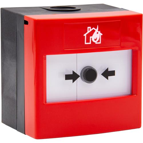 STI WRP2-R-01 Manuelt opkaldspunkt Til Brandalarm - Red