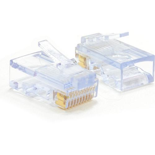 W Box Guld Plated Netværk Forbindelsesstik - 100 Pakke - 1 x RJ-45 Han Netværk