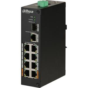 Dahua DH-PFS3110-8ET-96 8 Ports Ethernet Switch - 2 Layer Supported - Modulær - 96 W PoE Budget - Snoet Par - PoE Ports