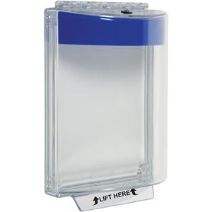 STI Universal Stopper STI-13010NB Sikkerhedsdække - Indoor, Outdoor - Beskadigelsesbestandig, Resistent over for støv, Vandalsikret - Polycarbonate - Blå, Klar