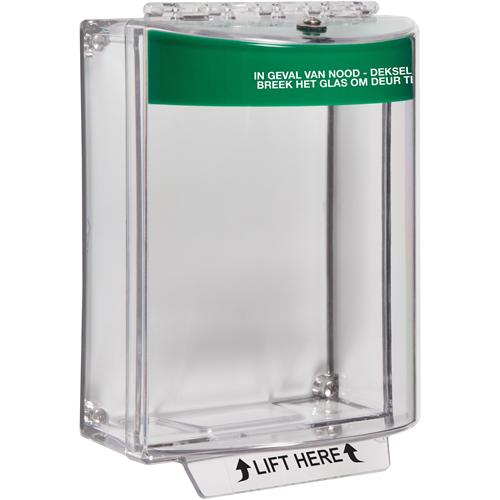 STI Universal Stopper Sikkerhedsdække til Opkaldspunkt - Indoor, Outdoor - Polycarbonate - Grøn