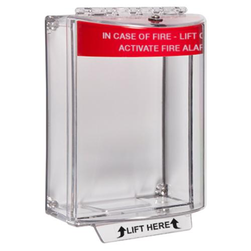 STI Universal Stopper Sikkerhedsdække til Opkaldspunkt - Indoor, Outdoor - Polycarbonate - Red