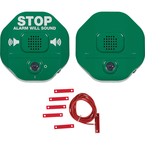 STI Exit Stopper Døralarm - Wired - 24 V DC - 105 dB - Hørbar - Grøn, Red