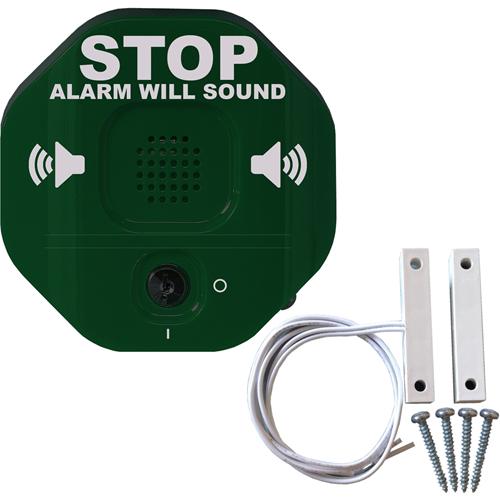 STI Exit Stopper Døralarm - Kablet - 24 V DC - 105 dB - Hørbar - Grøn, Rød