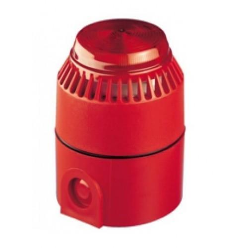 Fulleon Flashni Horn/blinklys - Kablet - 28 V DC - 103 dB - Hørbar, Visuelt - Rød, Rød