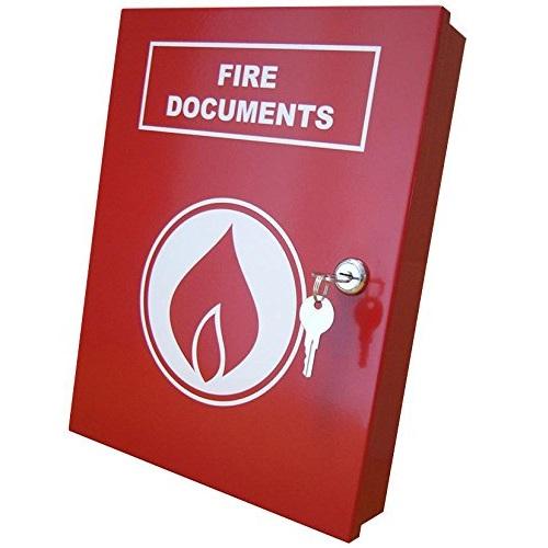 A4 Dokument Skab, Rødt m. logo