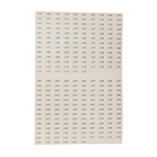 Skilt f/Det. 7-001 til 8-126