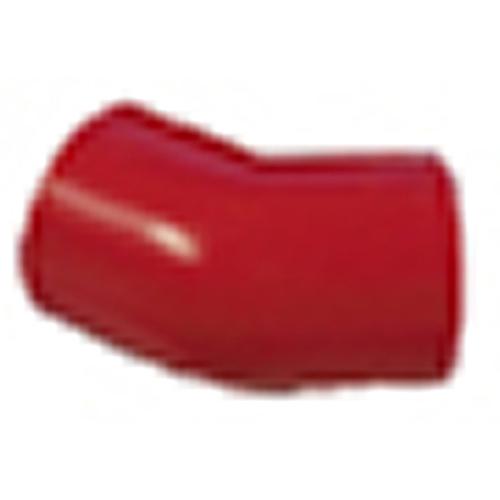Rørbøjning 45 gr. rød ABS