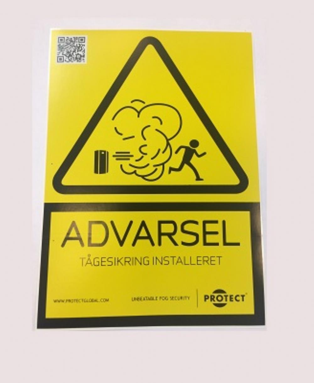 Stort advarselsskilt - Dansk