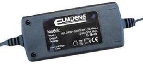 Elmdene Vision VRS125000EE Vekselstrømsadapter til CCTV-system - 120 V AC, 230 V AC Input Voltage - 12 V DC Output Voltage - 5 A Output Current