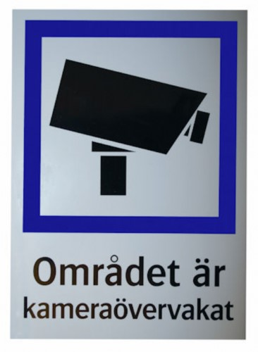 CCTV dekal A4 (SE)