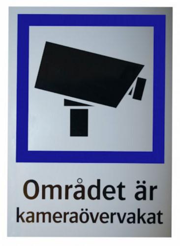 CCTV dekal liten(SE)