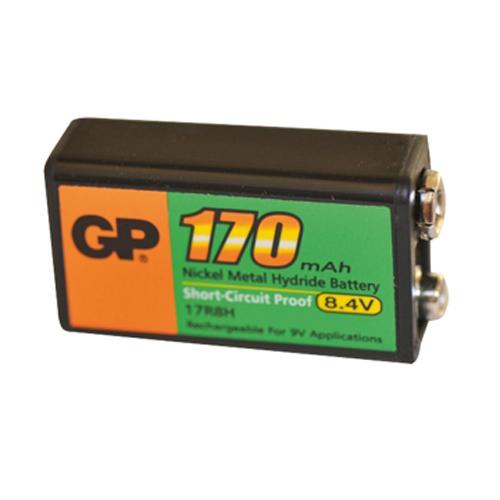 Batteri genopl. 9V  GP17R8H