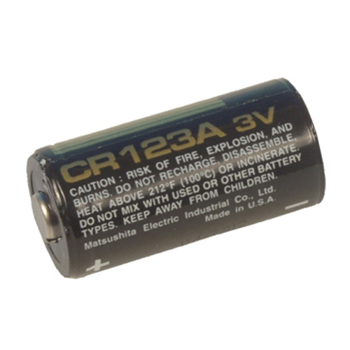 CR 123A, 3V Lithium batteri